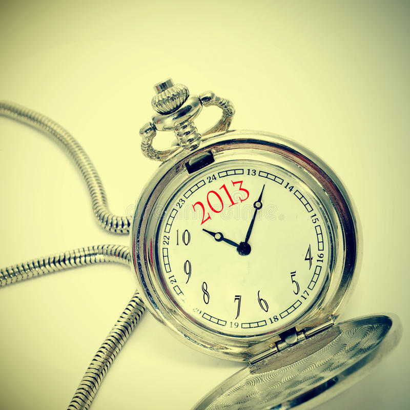 2013, the new year stock photo