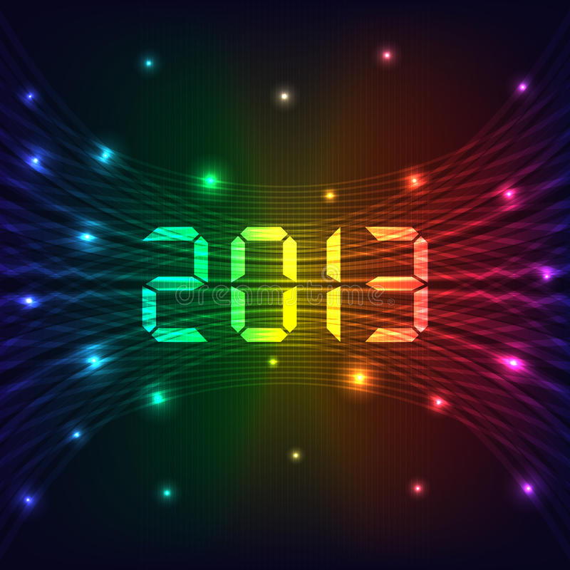 2013 New year background vector illustration