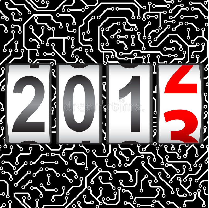 2013 New Year counter stock illustration