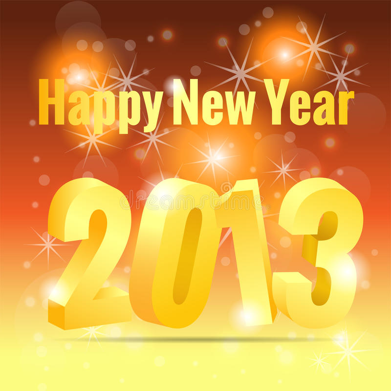 Free 2013 New Year Greeting Card Royalty Free Stock Photography - 27617957
