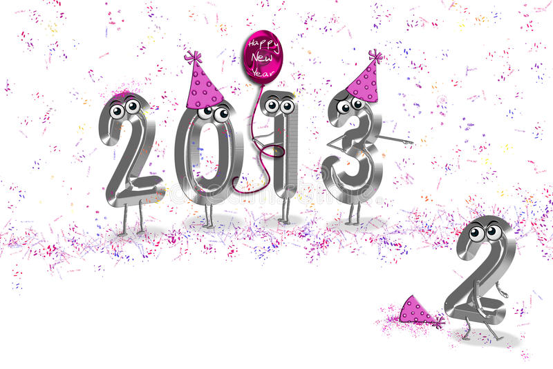 Download 2013 new year humor stock illustration. Illustration of silver - 22712722