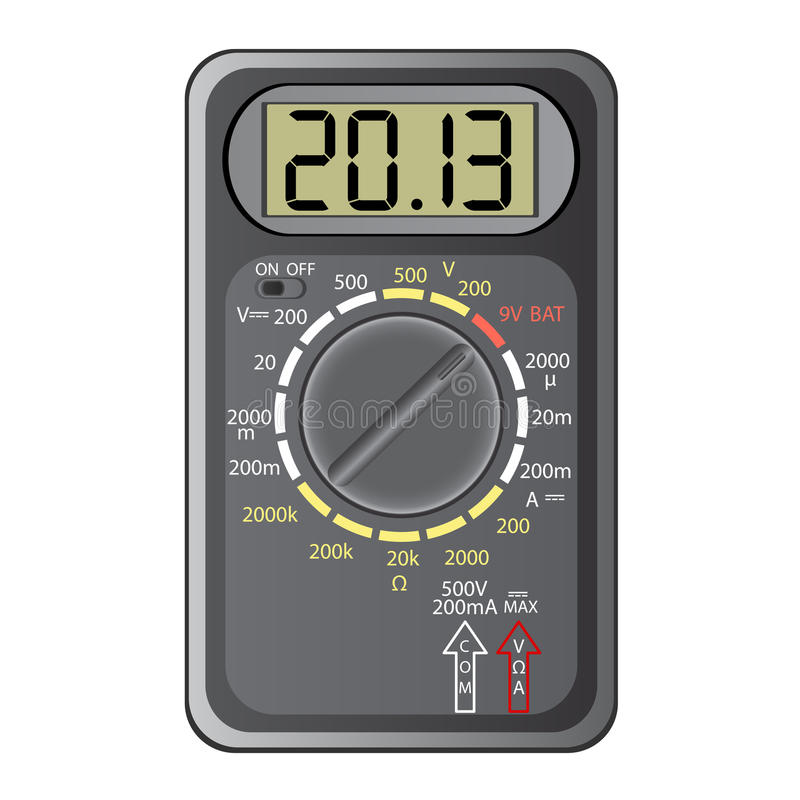2013 New Year Multimeter stock illustration