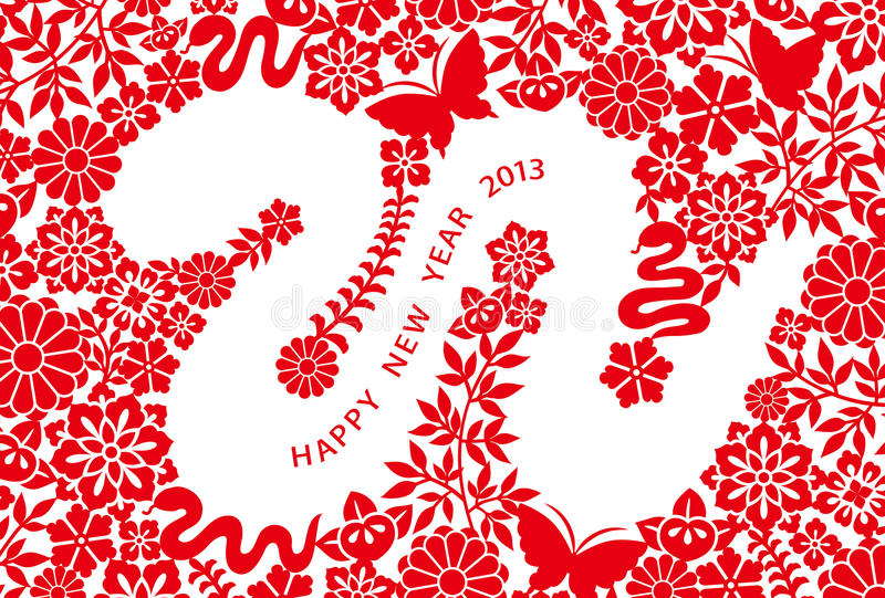 2013 New Year's card stock illustration