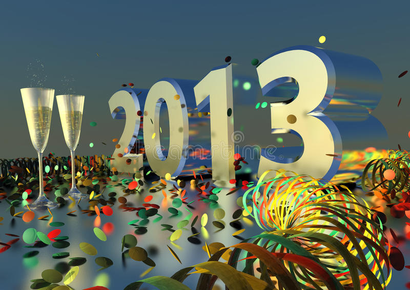 Download 2013 New Years Eve stock illustration. Image of background - 27934513