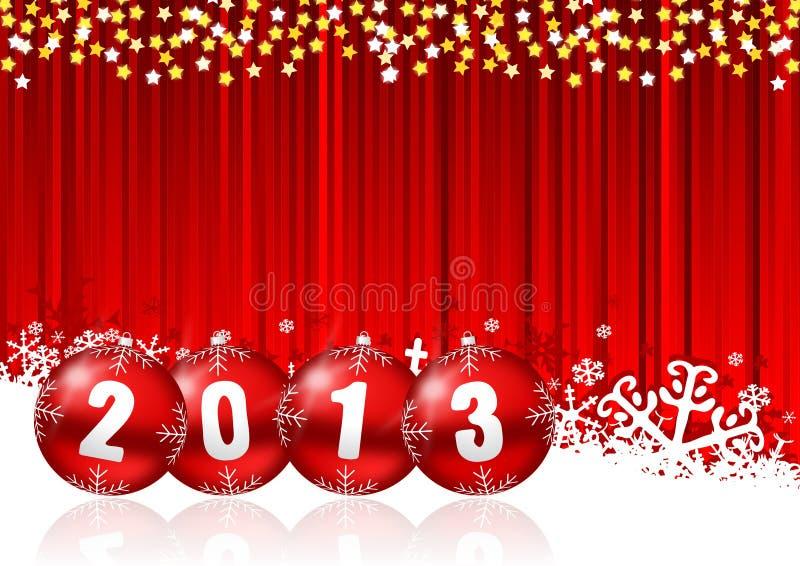2013 new years illustration royalty free illustration