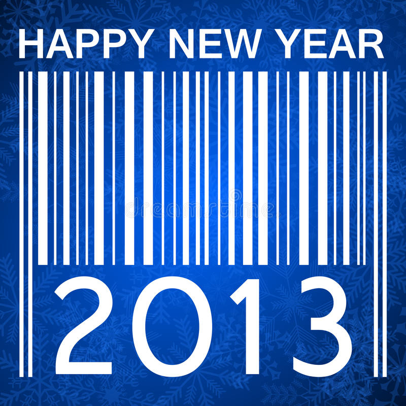 2013 new years illustration with barcode royalty free illustration