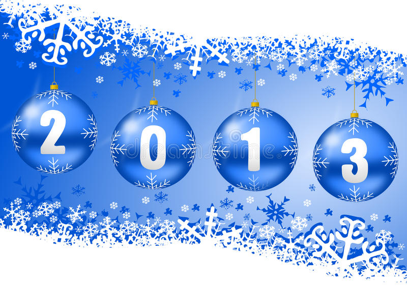 Download 2013 New Years Illustration With Christmas Balls Stock Illustration - Illustration: 27739774