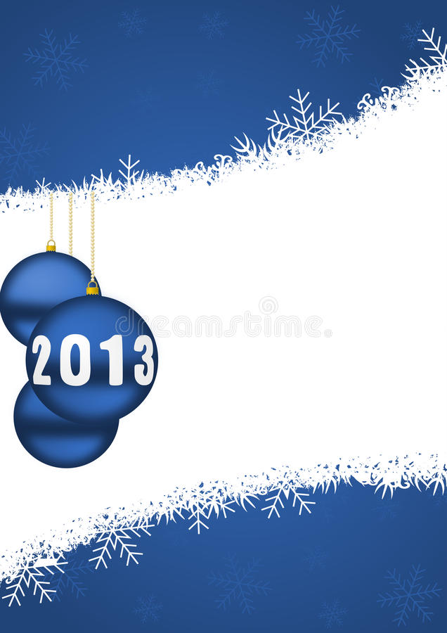 Download 2013 New Years Illustration With Christmas Balls Stock Illustration - Illustration: 28388584