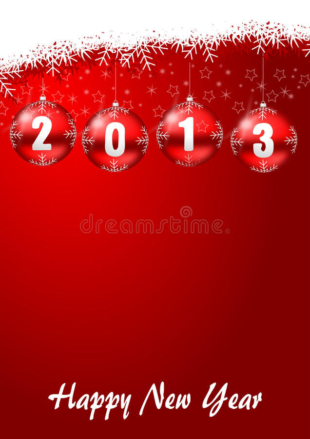 Download 2013 New Years Illustration With Christmas Balls Stock Illustration - Image: 28388611