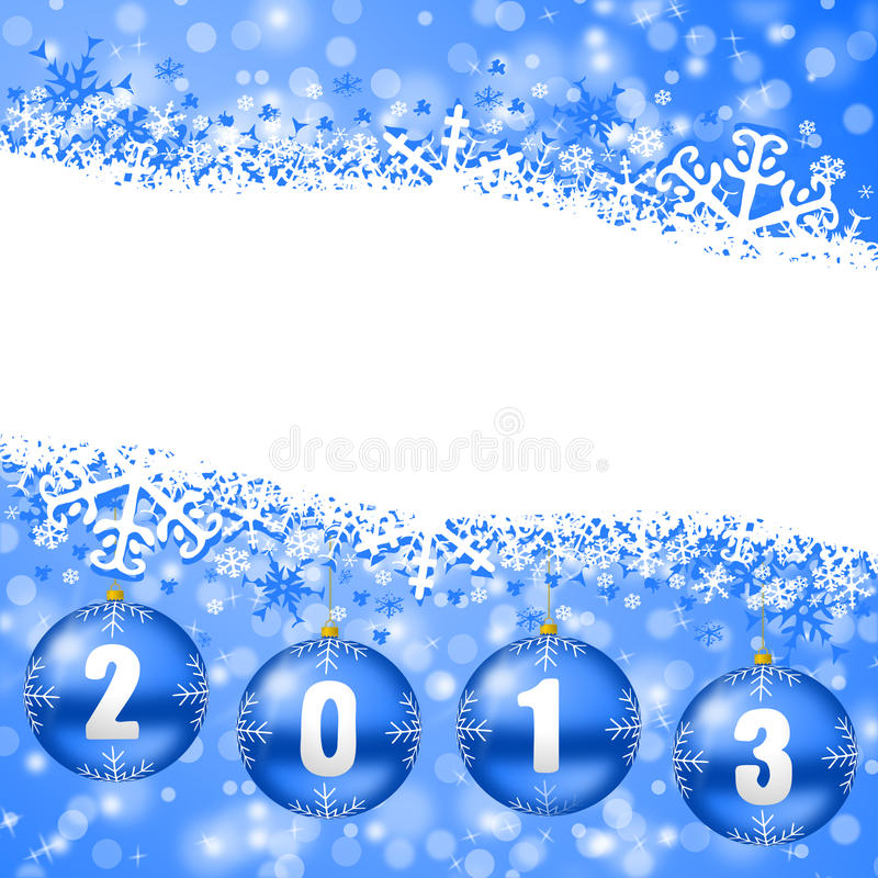 Free 2013 New Years Illustration With Christmas Balls Stock Photography - 27739832