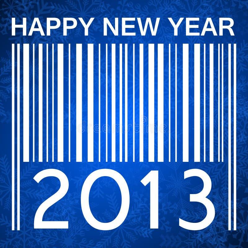 2013 nieuwe jarenillustratie met streepjescode royalty-vrije illustratie