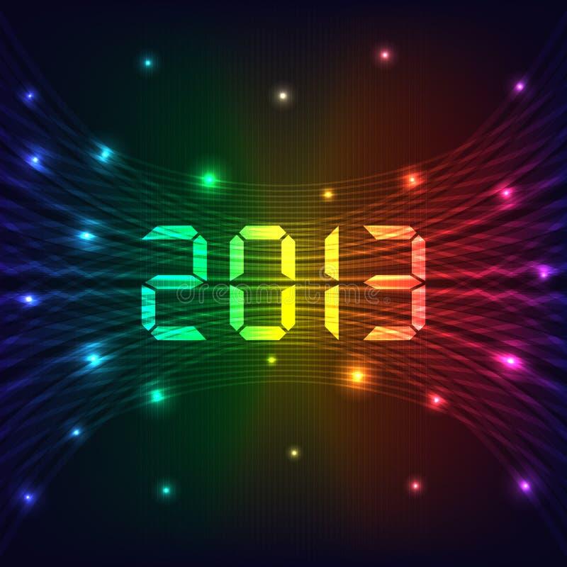 2013 Nowy rok tło ilustracja wektor