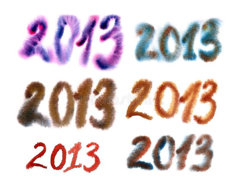 2013 numeri illustrazione di stock