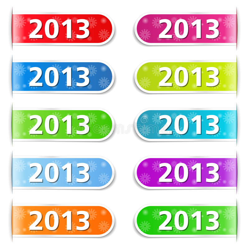 2013 onglets illustration stock