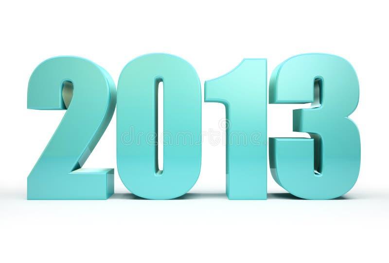 2013 rok   ilustracja wektor
