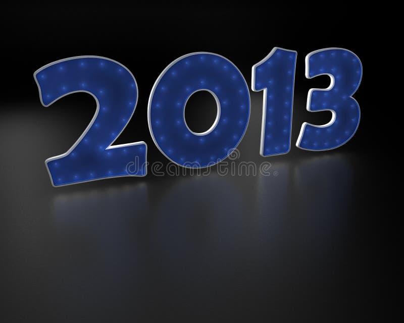 2013 rok błękit tekst ilustracja wektor