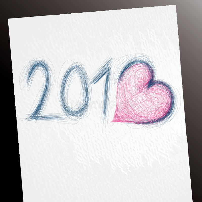 2013 Sketch Royalty Free Stock Photography
