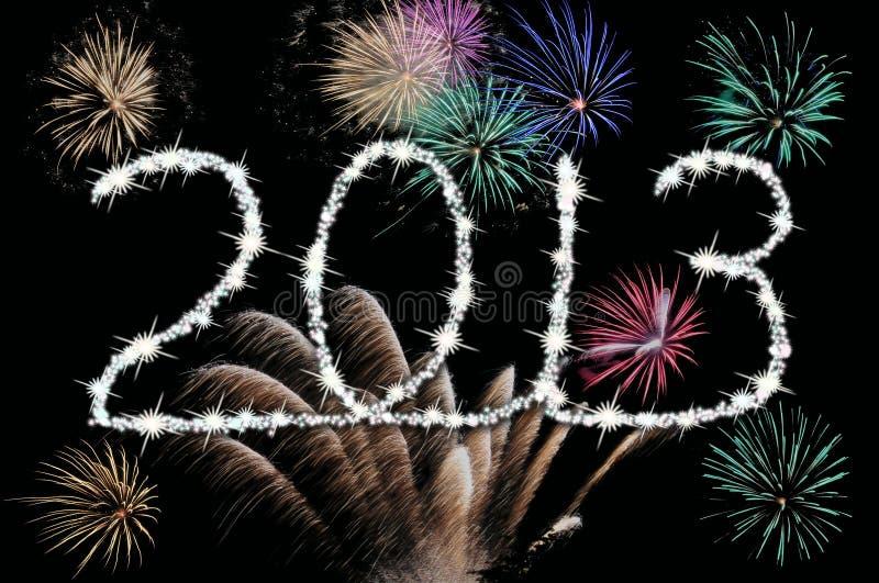 2013 Szczęśliwych nowy rok ilustracja wektor