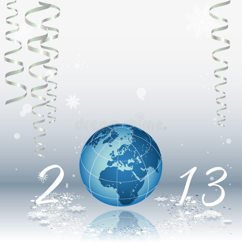 2013 szczęśliwych nowy rok royalty ilustracja