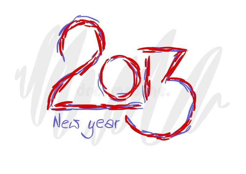 2013 tekst dla nowego roku royalty ilustracja