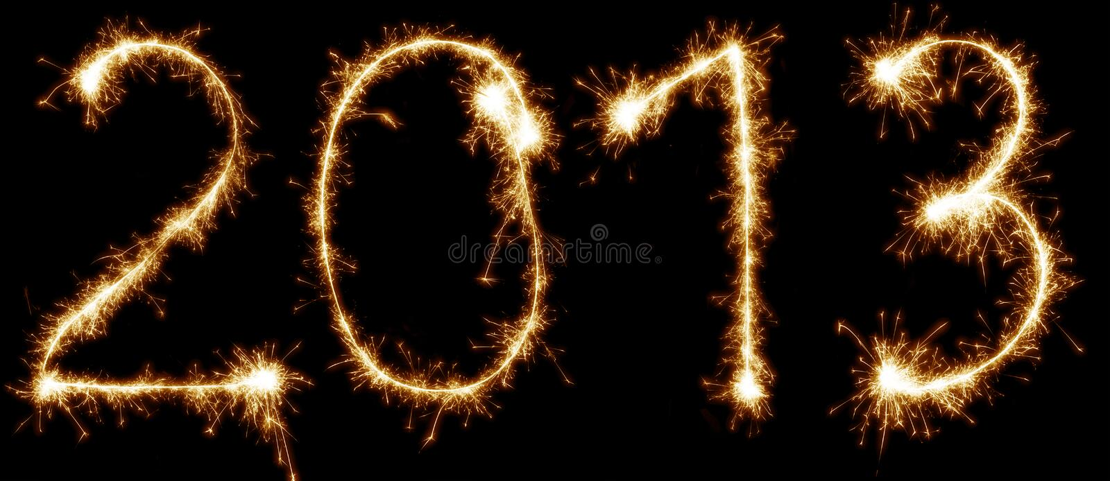 2013 Written With Sparkles Stock Photography