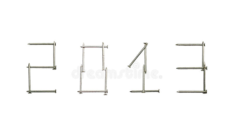 Download 2013 y stock photo. Image of metal, alloy, stainless - 27493310