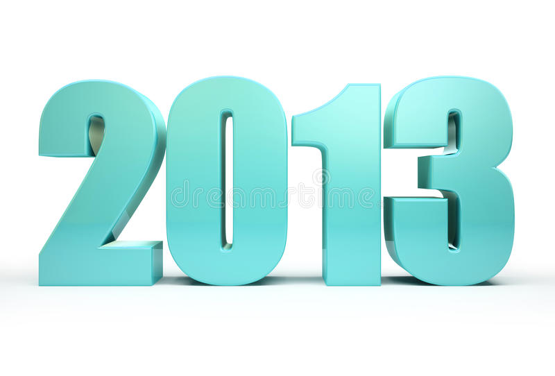 2013 year vector illustration