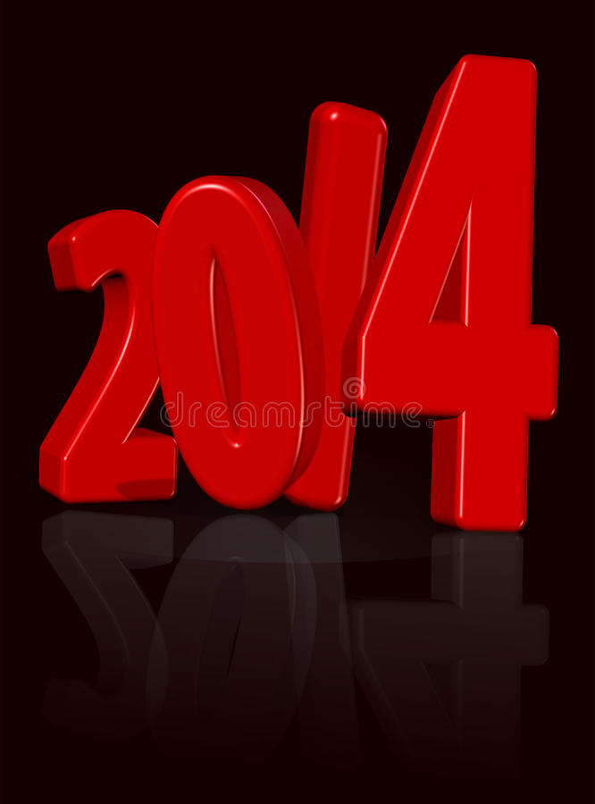 2014 ! royalty free stock image