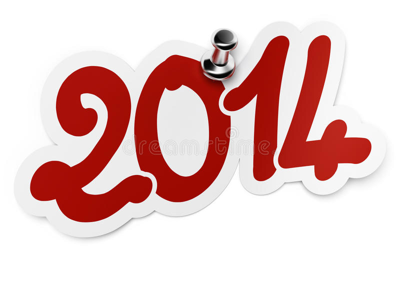 2014, due mila quattordici illustrazione di stock
