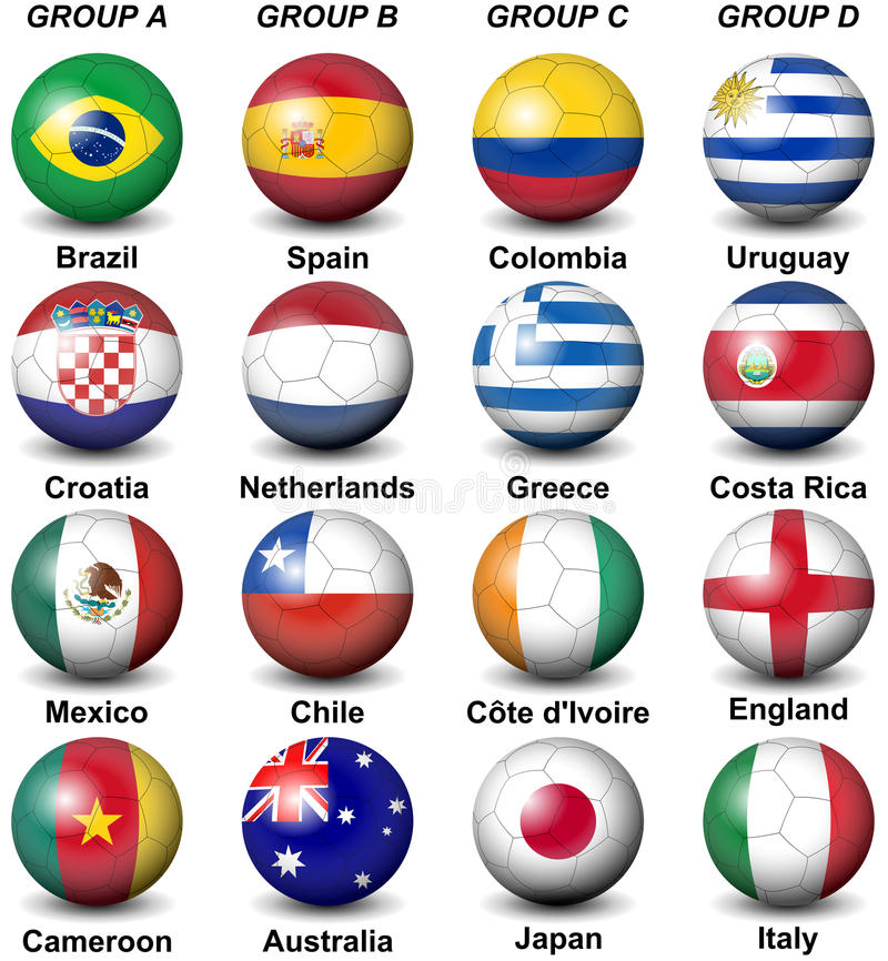 Free 2014 Fifa World Cup Brazil Groups Royalty Free Stock Photos - 35981238
