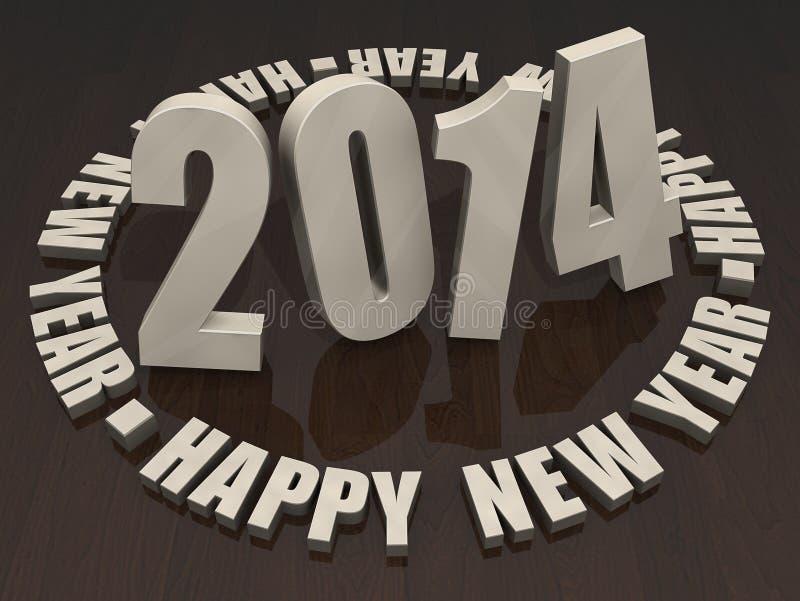 2014 Guten Rutsch Ins Neue Jahr Lizenzfreies Stockfoto