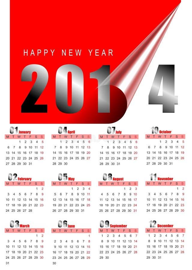 Download 2014 monthly calendar stock illustration. Illustration of december - 28355372