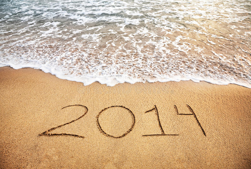 Download 2014 New year stock image. Image of relaxation, island - 28482173
