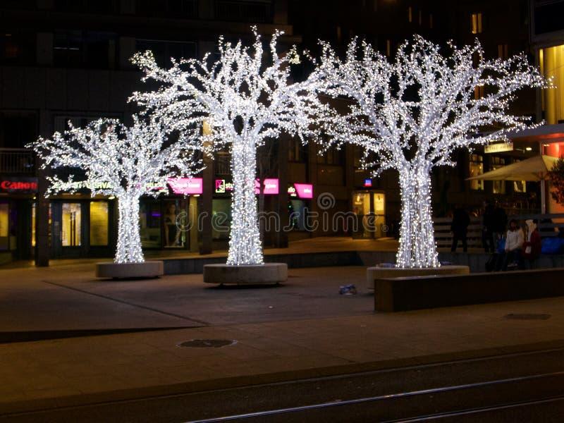 2015-Kerstmis in Genève royalty-vrije stock fotografie
