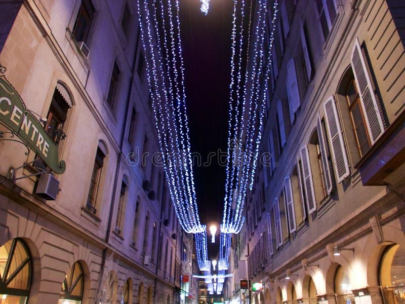 2015-Kerstmis in Genève royalty-vrije stock foto