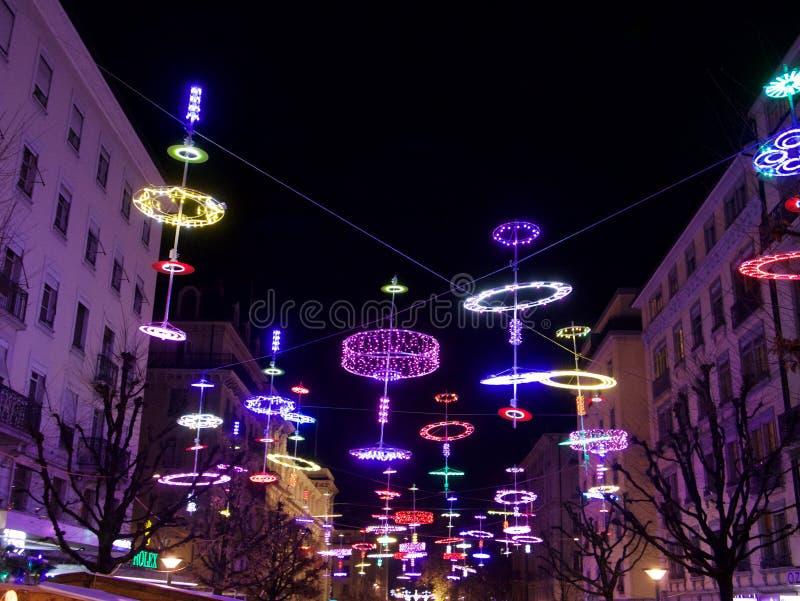 2015-Kerstmis in Genève stock fotografie