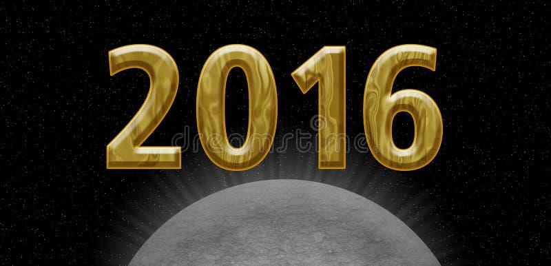 2016 golden card stock image