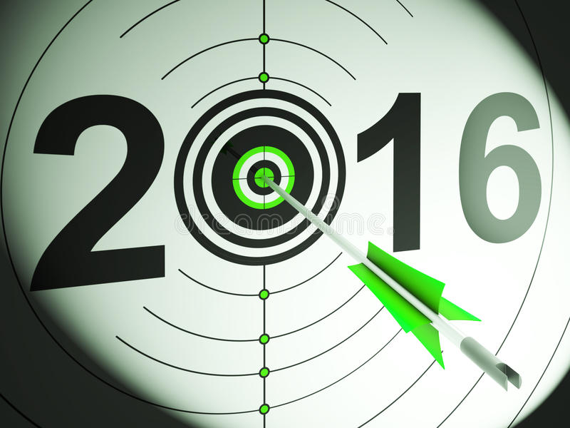 Download 2016 Projection Target Shows Profit And Growth Stock Images - Image: 29397494