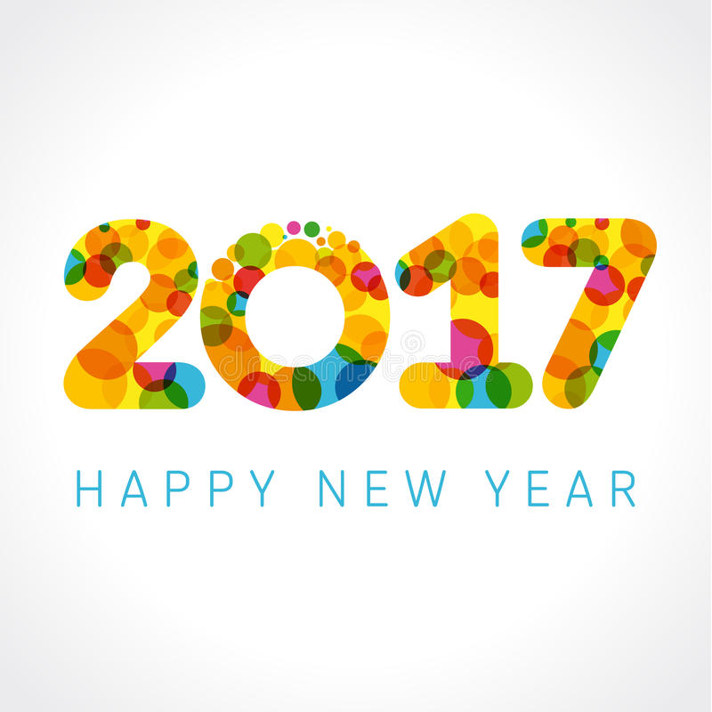 Free 2017 Happy New Year Color Numbers Stock Images - 67952504