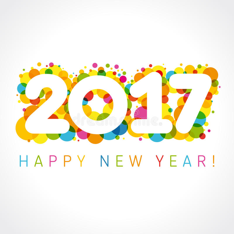 Free 2017 Happy New Year Numbers Colorul Stock Photo - 68318690