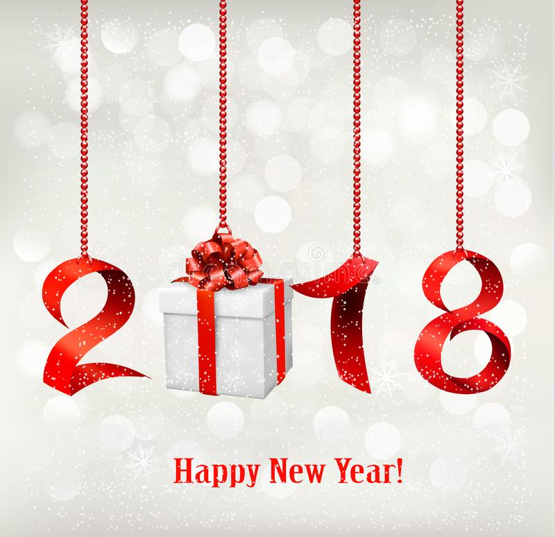 Free 2018 New Years Background With Gift. Royalty Free Stock Photos - 99921418