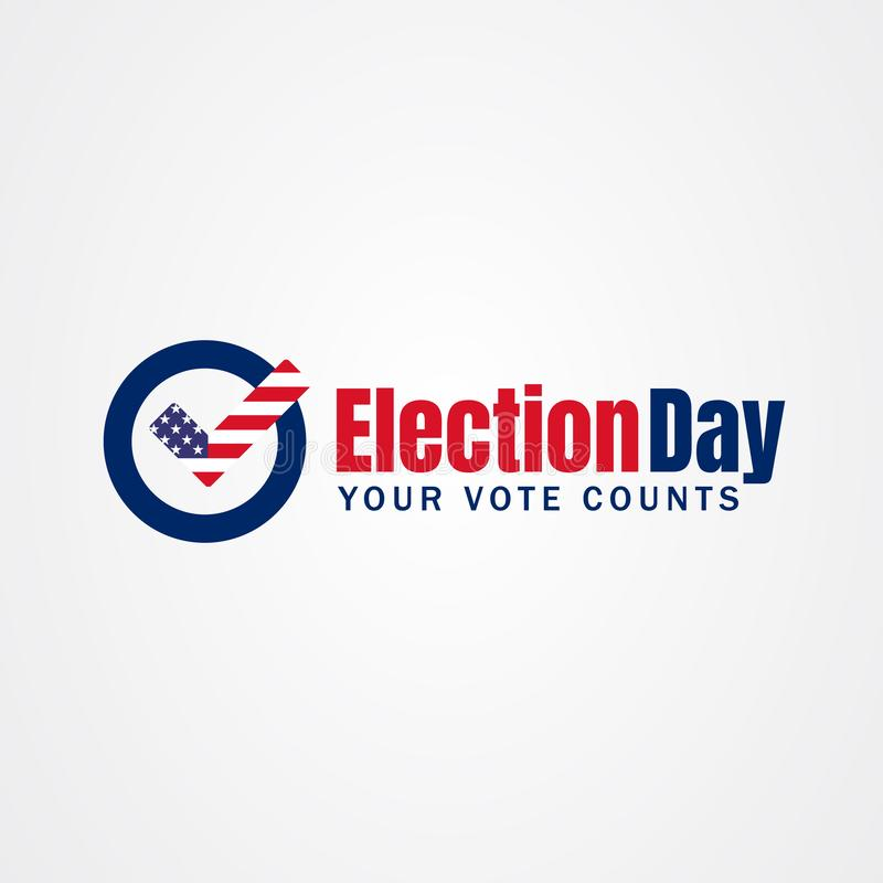 Free 2020 United States Of America Presidential Election Day Vote Banner Royalty Free Stock Image - 167890136