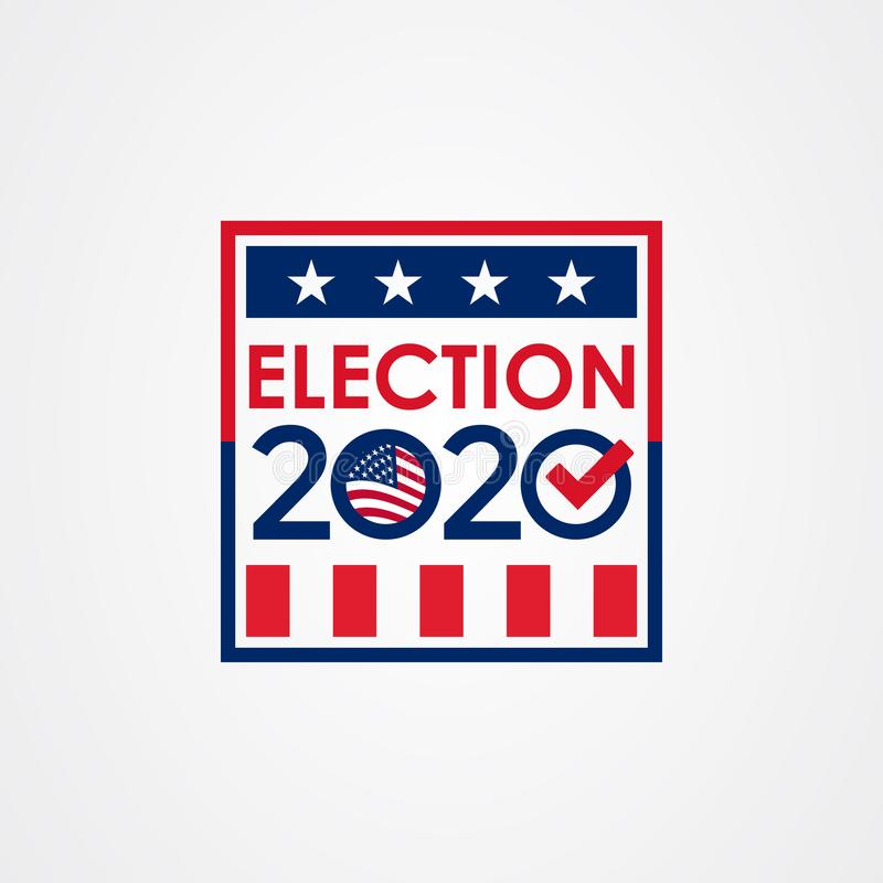 Free 2020 United States Of America Presidential Election Vote Banner Royalty Free Stock Images - 167890149