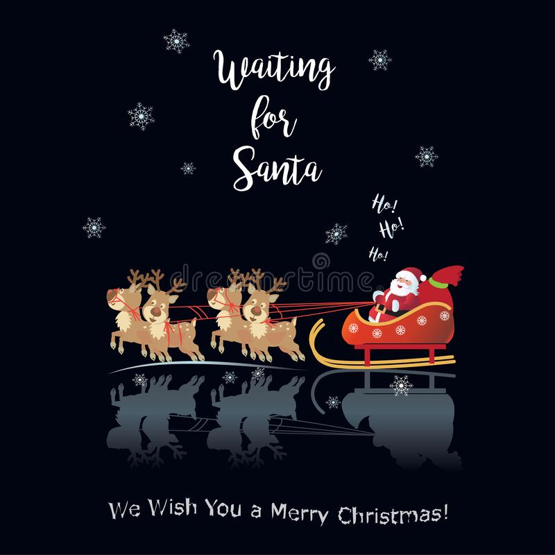 Free 2021 Winter Holiday Happy New Year Christmas Decoration Waiting For Santa Ho, Ho. Ho Stock Images - 134820364