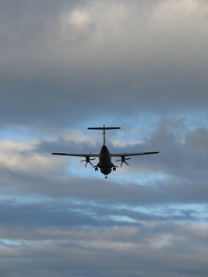 使飞机降落 库存图片