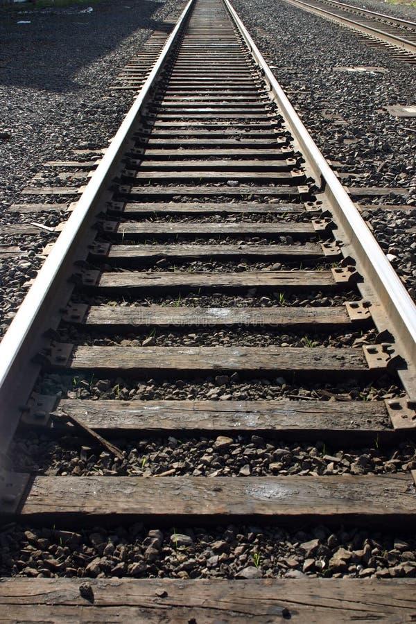 俄勒冈波特兰铁轨 免版税库存图片