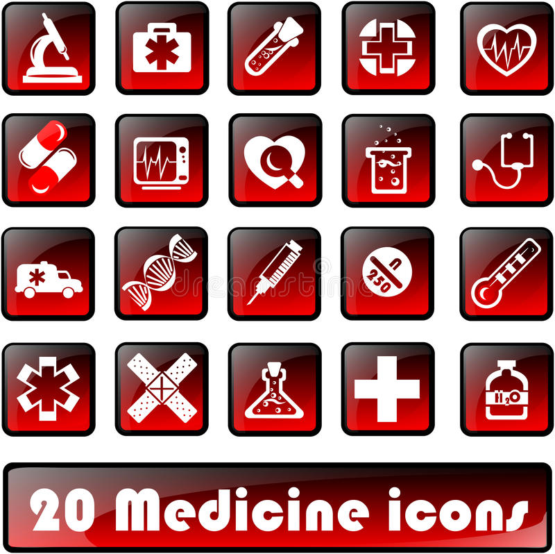 Download 20medicine icons stock vector. Illustration of pulse - 27205383