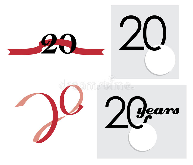 20th Anniversary Celebration royalty free illustration