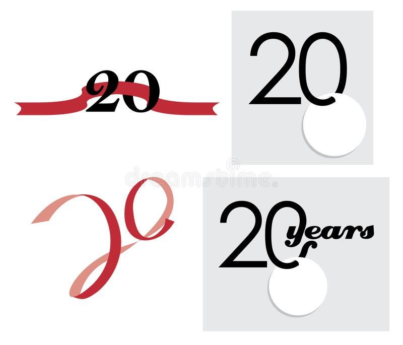 20th Anniversary Celebration. 20th year anniversary celebration logo royalty free illustration