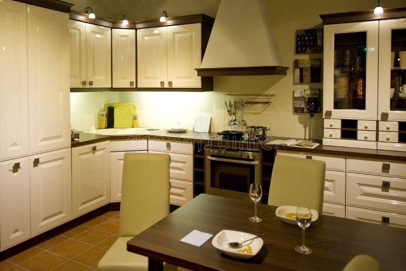 21个厨房现代新的缩放比例 免版税库存图片